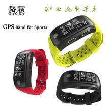 Haoba GPS послужной список smart Сердечного ритма Мониторы напоминание шагомер IP68 Водонепроницаемый Спорт Смарт браслет Relogio