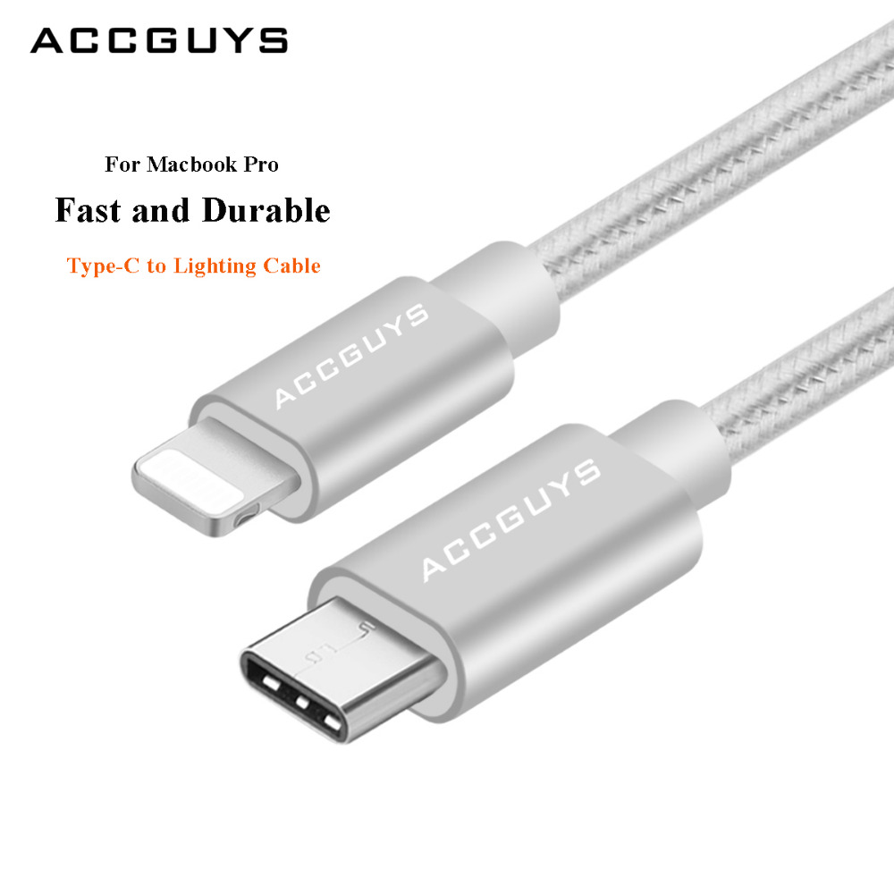 ACCGUYS Usb Cable For Iphone 8 7 Plus 6 5 To Type-C Type C M