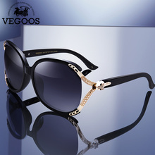 VEGOOS Womens Oversize Sunglasses 2018 Polarized Brand Designer for Women Large Frame Vintage Rhinestone Sun Glasses