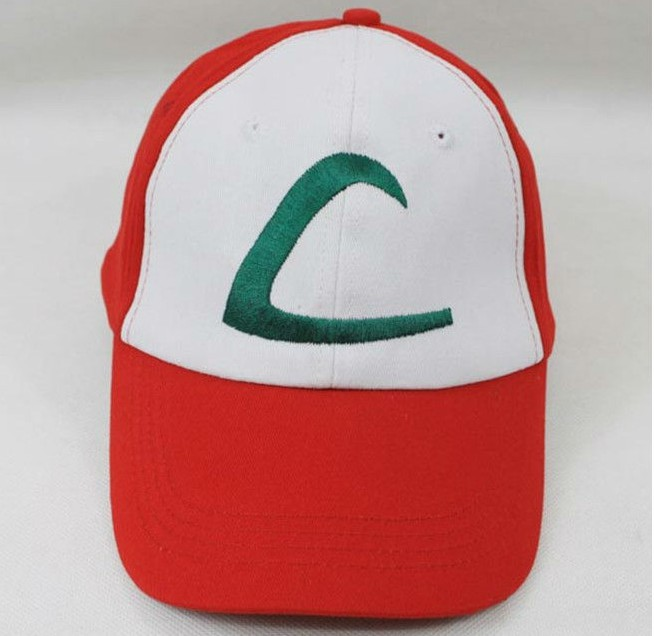 New Anime Pokemon ASH KETCHUM Trainer Costume Cosplay Hat Cap
