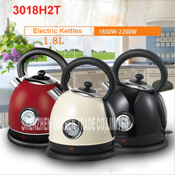 1PC 304 Stainless Steel Household Electric Water Kettle 1850W 1.8L Safety Auto-Off 220V Heating Kettles with temperature control