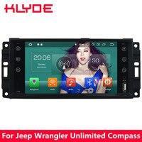 KLYDE 7 4G Android 8 Восьмиядерный 4 Гб ОЗУ 32 Гб ПЗУ автомобильный dvd плеер радио для Jeep libery, Wrangler неограниченный компас Grand Cherokee