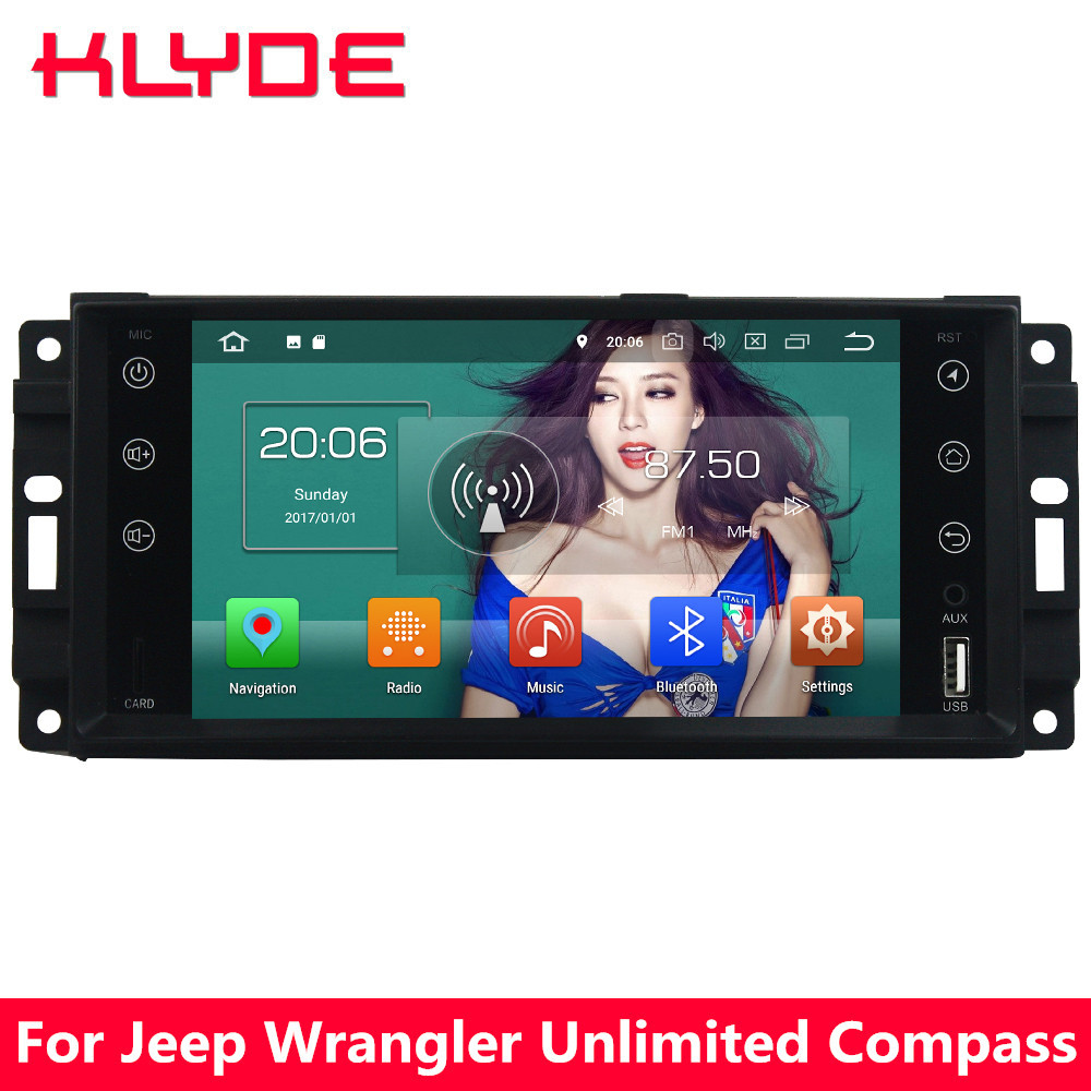 KLYDE 7 4G Android 8 Octa Core 4GB RAM 32GB ROM Car DVD Player Radio For Jeep Liberty Wrangler Unlimited Compass Grand Cherokee loreada throttle body 4861661aa 4861661ab for jeep grand cherokee liberty dodge dakota nitro ram 1500 3 7l 3 8l