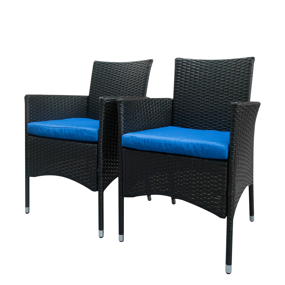 US $104.99 |2pcs Single Backrest Chairs Rattan Sofa Set Black-in Garden  Chairs from Furniture on Aliexpress.com | Alibaba Group