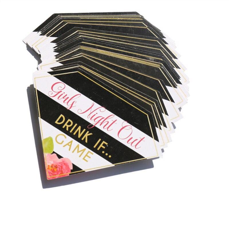 Despedida de soltera atrezo tarjetas boda equipo Novia a ser partido juego chicas noche Prop beber tarjetas de juego Doble coche-Apertura de basura del Interior del coche de los desechos de prensa Flip basura con tapa caja de almacenamiento de orden 1k piezas puede ser logotipo personalizado
