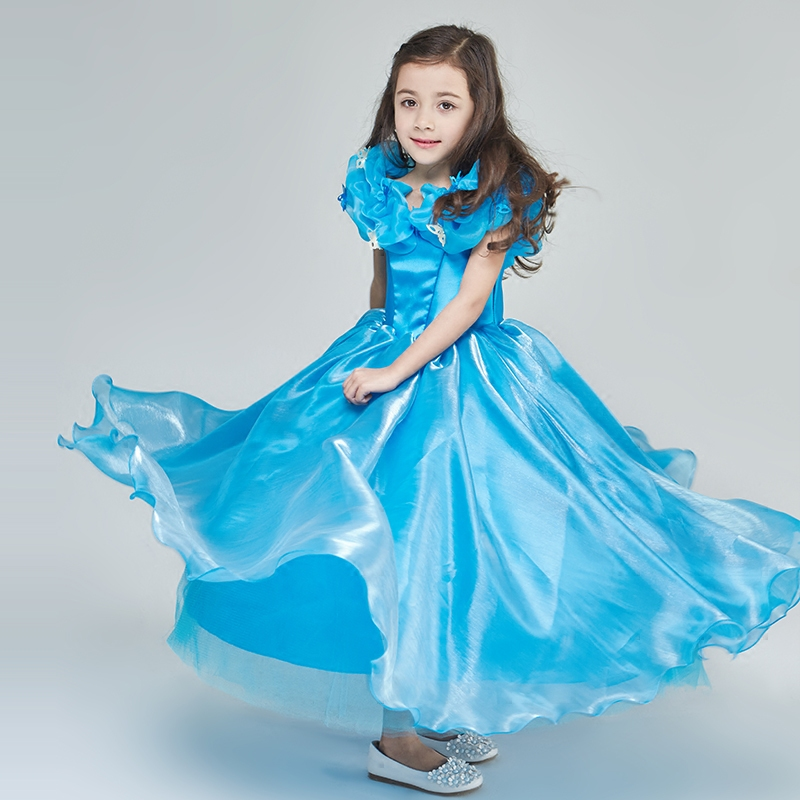 Girl Blue Dress Party Wedding Dress Kids Children Baby Princesss Dress orico hcu type c a to c usb data charging cable for xiaomi 4c pro5 gray silver golden pink