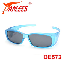 PANLEES UV protective polarized lens fit over covers wear over optical glasses outdoor sports fishing driving sunglasses goggle