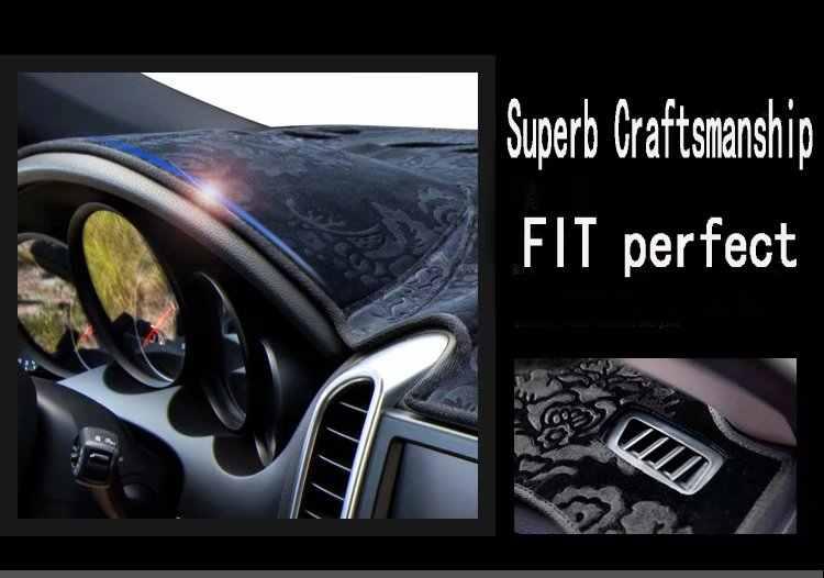Для Nissan Juke 2011 2012 2013 2014 2015 2016 2017 2018 фланель Dashmats Dashboard Чехлы тире Pad автомобильный коврик ковер пользовательские