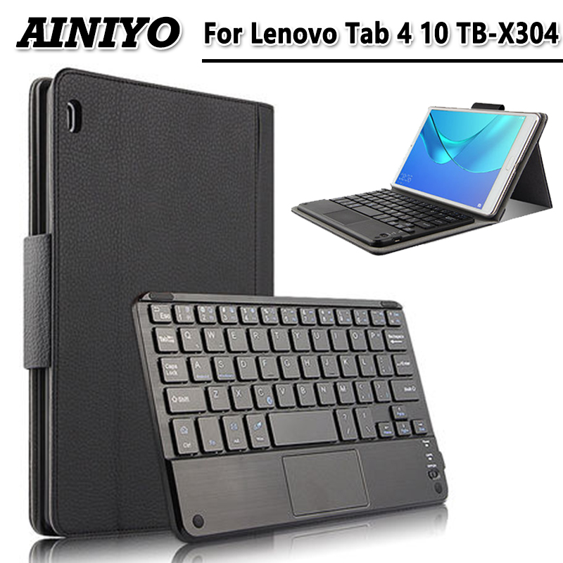 For For Lenovo Tab 4 10 10.1 case Wireless Bluetooth Keyboard Case For Lenovo Tab 4 10 TB-X304F/N/L Keyboard case cove bluetooth keyboard for lenovo miix 300 10 8 miix 310 320 tablet pc wireless keyboard miix 4 5 pro miix 700 miix 510 720 case