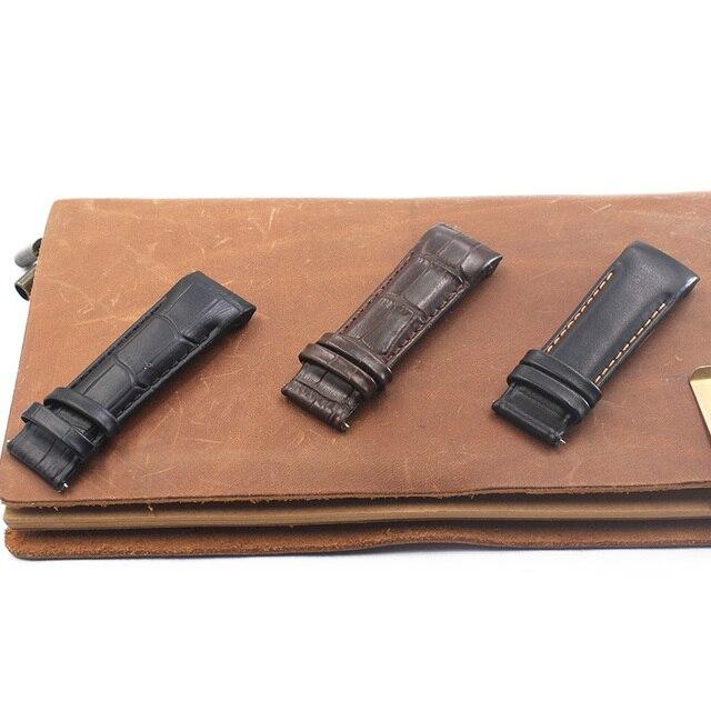 Deri kayış kayış 22mm23mm24mm Tissot için serin resim T035 kayış kütüphane harita deri 1853 erkekler saat kayışı