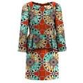 Elegante Casual Mujeres Peter pan Collor Vestido Africano Dashiki Imprimir Colores Brillantes de Las Señoras Ropa de Moda Vestidos de Las Señoras