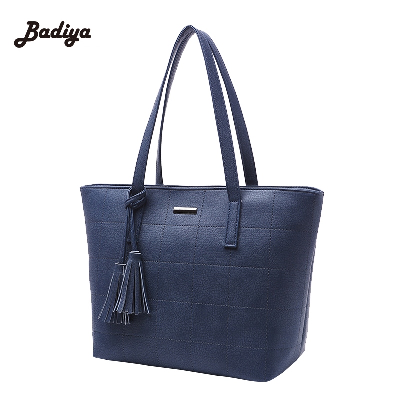 Black Tassel Shoulder Bags Ladies Cross Body Bags Large Capacity Ladies Shopping Bag New Designer Women Leather Plaid Handbags