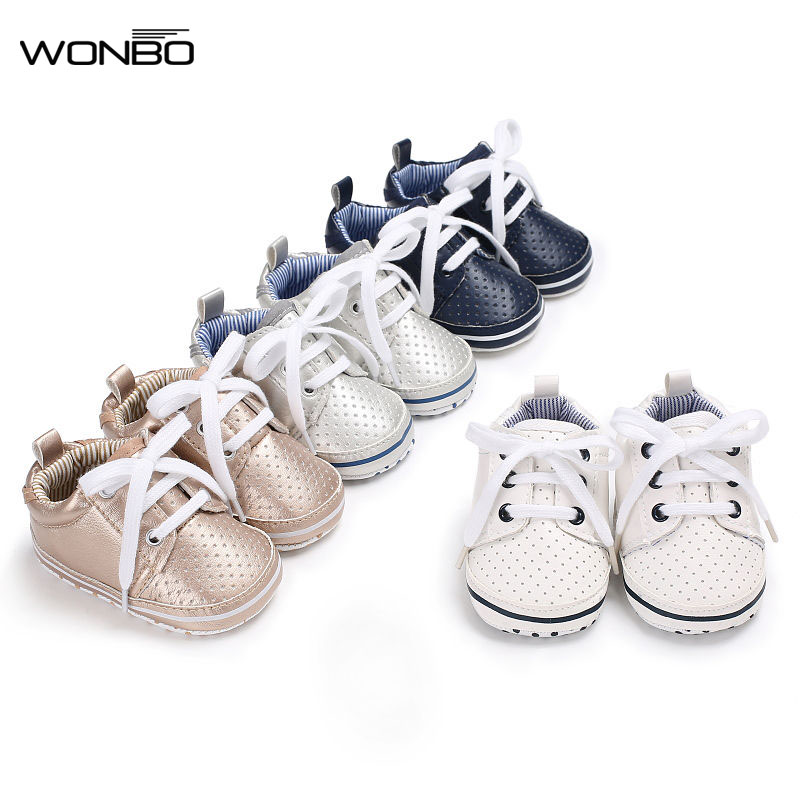 2019 Unisex Solid Color Classic Style Baby Fashion Sneakers Infant Toddler Shoes Soft Bottom Baby Shoes