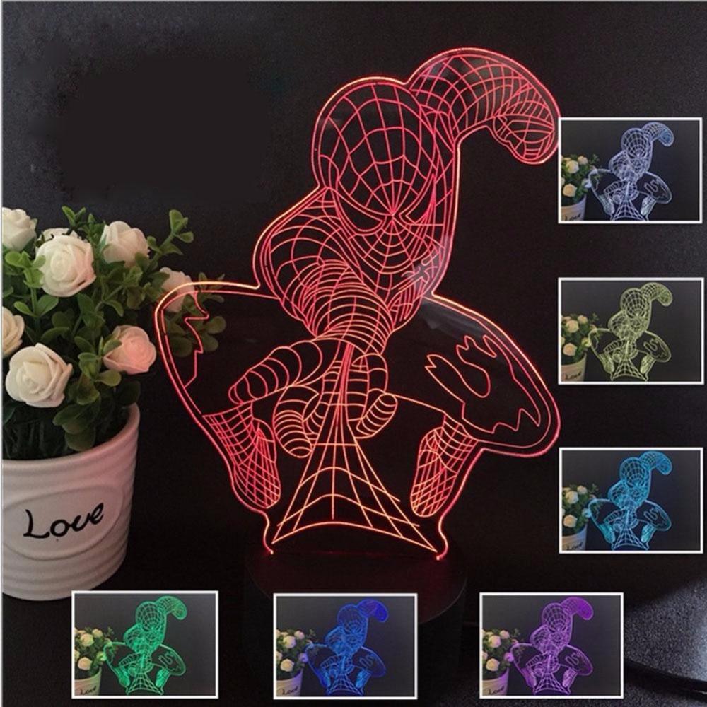 spiderman lampe promotion achetez des spiderman lampe. Black Bedroom Furniture Sets. Home Design Ideas