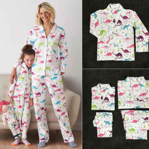 Emmababy Family Matching Pajamas Set Women Kid Fits Cartoon Dinosaurs Long  Sleeve Cotton Family Matching Sleepwear a75821b08
