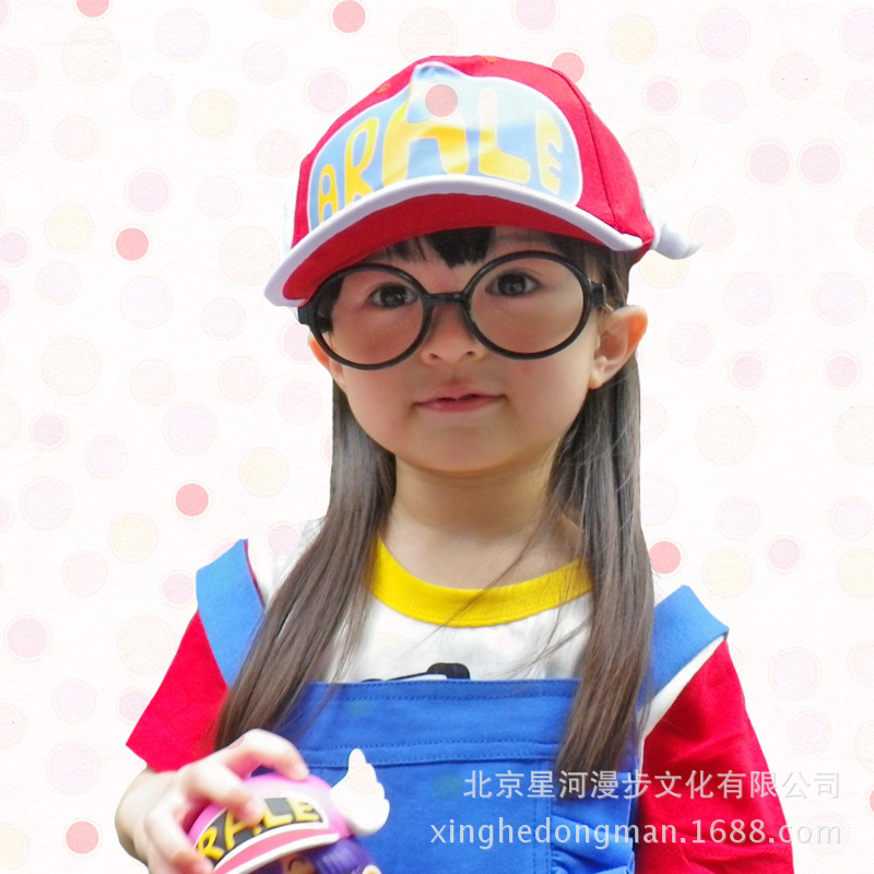 Arale Clothes Hot JP Anime Dr.Slump  Sets Kids Arale Cosplay Costumes Cute Girls Personility Costumes