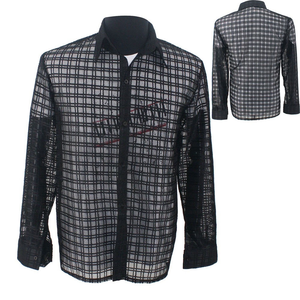 MJ MICHAEL JACKSON dentelle noir Cool You Are Not Alone MTV Concert In Kuala Lumpur chemise noire Performance Collection