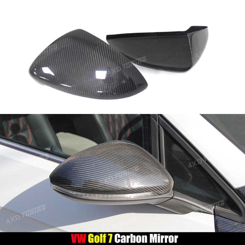 For Volkswagen VW Golf7 MK7 Carbon Fiber Rear Side View Caps Mirror Cover car Replacement &Add on style 2013 2014 2015 2016 2017 fashionable big lip shaped pu rivet shoulder bag messenger bag for women black golden