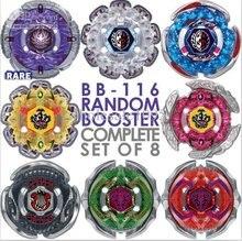 New BeyBlade BB116 Jade Jupiter 4D Complete Set Of 8 Random Booster