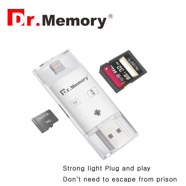 3 em 1 leitor de cartão para cartão sd TF cartão usb cartão dr. memória usb sd adaptador para iphone 6 6 s micro usb