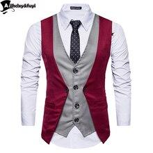 Мужской жилет для костюма, мужской топ для мальчиков, популярный товар, модная деловая повседневная одежда, мужской жилет, одежда, горячая распродажа