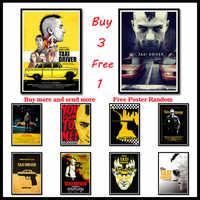 Klassische film Taxi Driver Robert De Niro Dekorative Malerei Weiß Kraft Poster Wand stickerFrameless