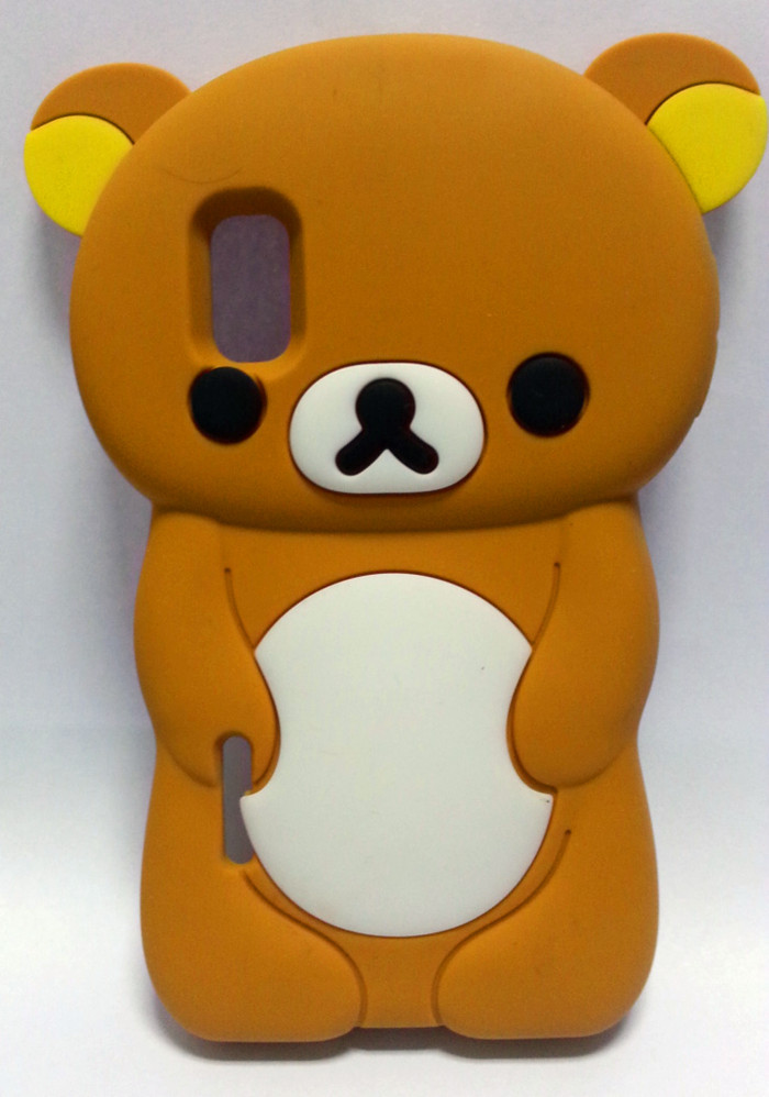 Lovely Cute 3D Cartoon Teddy Bear Case Cover LG Optimus L5 E612 Silicon Shell Cell Phone - Bobo shops store