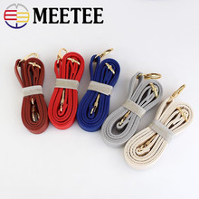 Meetee 2cm Bags Strap Pu Leather Replacement Adjustable Straps with Buckle for Women Crossbody Shoulder Bag Accessories