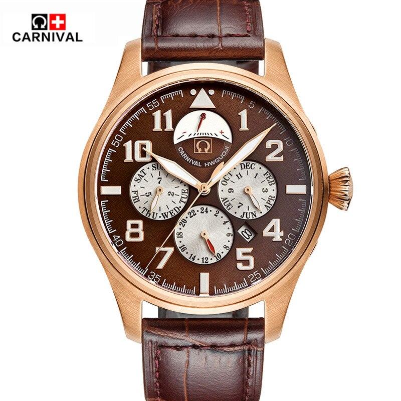 Waterproof Luminous Men Watch New Luxury Brand Fashion Watch  Automatic Mechanical Watches Calendar Leather Steel Clock  Relogio