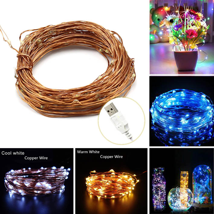 Aliexpress.com : Buy 33FT 10M USB Outdoor Waterproof Led Copper ...