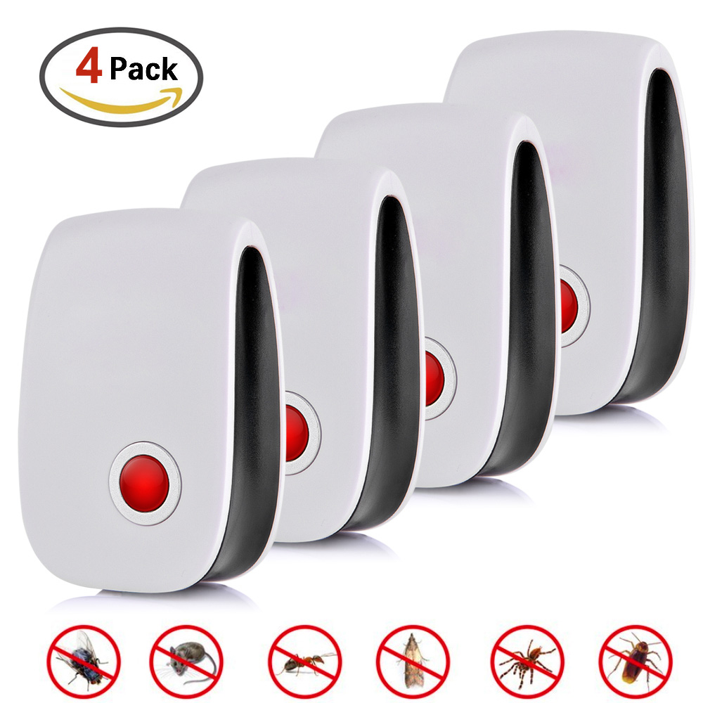 4pcs Electronic Ultrasonic Pest Repellent Hot Selling Electronic Multi-Purpose Ultrasonic Killer Pest Tool For Mouse Cockroach4pcs Electronic Ultrasonic Pest Repellent Hot Selling Electronic Multi-Purpose Ultrasonic Killer Pest Tool For Mouse Cockroach