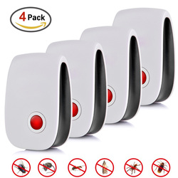 4pcs Electronic Ultrasonic Pest Repellent Hot Selling Electronic Multi-Purpose Ultrasonic Killer Pest Tool For Mouse Cockroach