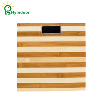 3 180kg Bamboo Square Wooden Health Weight Fitness Scale LCD Digital Smart Floor Electronic Weighing Pesa Bathroom Scientific
