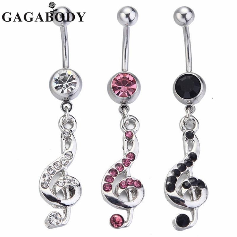 Fashion 2015 Music Belly Rings Dangle 1PC Piercing Ombligo Body Piercing Jewelry