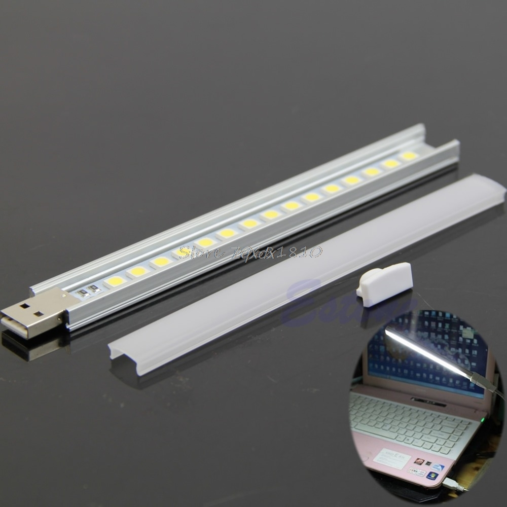 15 LED USB Portable Strip Lamp Light Maximum Illumination For Laptop Notebook PC Z17 Drop ship ...