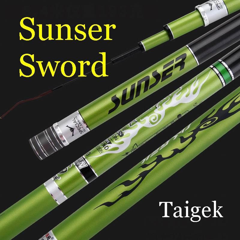 Taigek Sunser Zwaard 19 Telescopische Hengel Superhard Piek Kwaliteit Top Toonaangevende Gewoon Voor Grotere Vissen Tot 8.5M 538G - 2