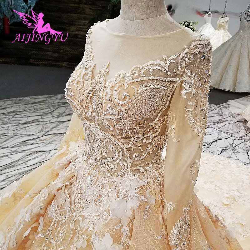 AIJINGYU Wedding Dress New Gowns Online Shopping Frocks Websites Cheap Best Princess Gray Gown Wedding Dresses image