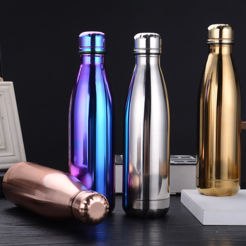 500ml Stainless Steel Water Bottle Cola Shape Thermos Double Wall Insulated Vacuum Flask leakproof Bottle for Sports Gym Fitness|Water Bottles|   - AliExpress