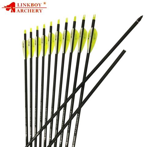 linkboy tiro com arco flechas de carbono mix 30 polegada sp500 id6 2mm 2 8