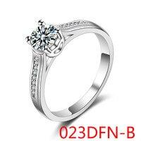 דפוס חדש האירופי זירקוניום אישה עם Hypoplastic נרתיק תכשיטי מגמת טבעת בצורת לב 023DFN-A jiezhi