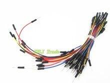 TIEGOULI 65 pçs/lote * 10 = 650 pcs Lot Nova Solderless Flexível Breadboard Jumper Cables