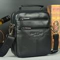 El mejor regalo de Oro de coral fino multifuncional bolsa de los hombres nueva llegada masculino pequeña bolsa de mensajero bolsas de hombro bolso de piel de vaca paquete de la cintura