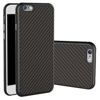 Wysokiej Jakości włókna Węglowego PP Guma telefon powłoki Czarny kolor oleju skrzynki pokrywa Dla plastikowe naklejki Dla iPhone 6 6 s 7 Plus