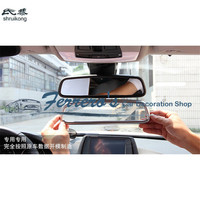 Free Shipping car stickers interior mirror decoration ABS Chrome for BMW new 3 series 320LI 328LI 323i F30 F35 X1 X5 X6