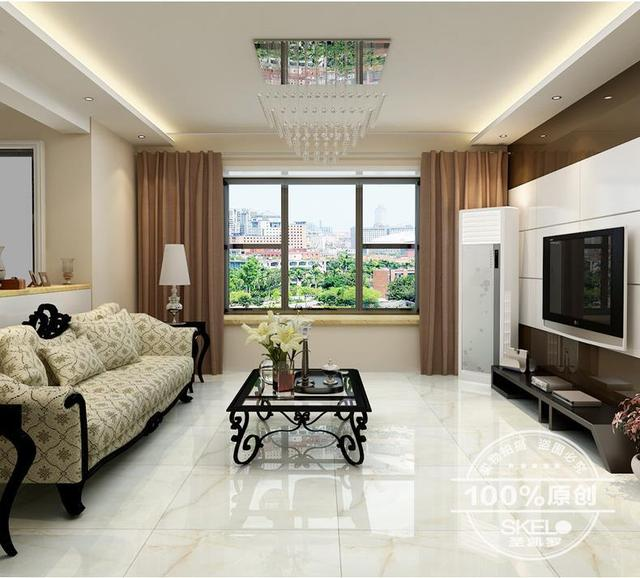 Tile White Jade Living Room Anti Fouling Floor Polished Glazed 800x800 Porcelain Environmental