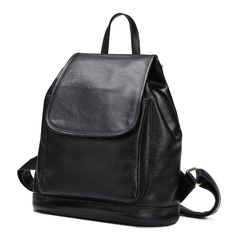 2016 New Designer Real Leather Women s Backpack Girls cowhide School pack Shoulder Bag Genuine Leather