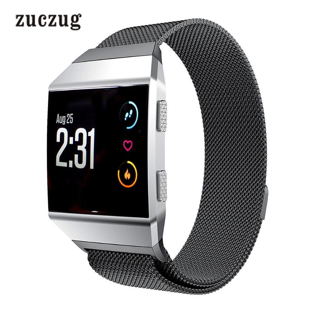 Zuczug Milanese Magnetic Loop Stainless Steel Metal Replacement Watch Band for Fitbit Ionic Wrist bands