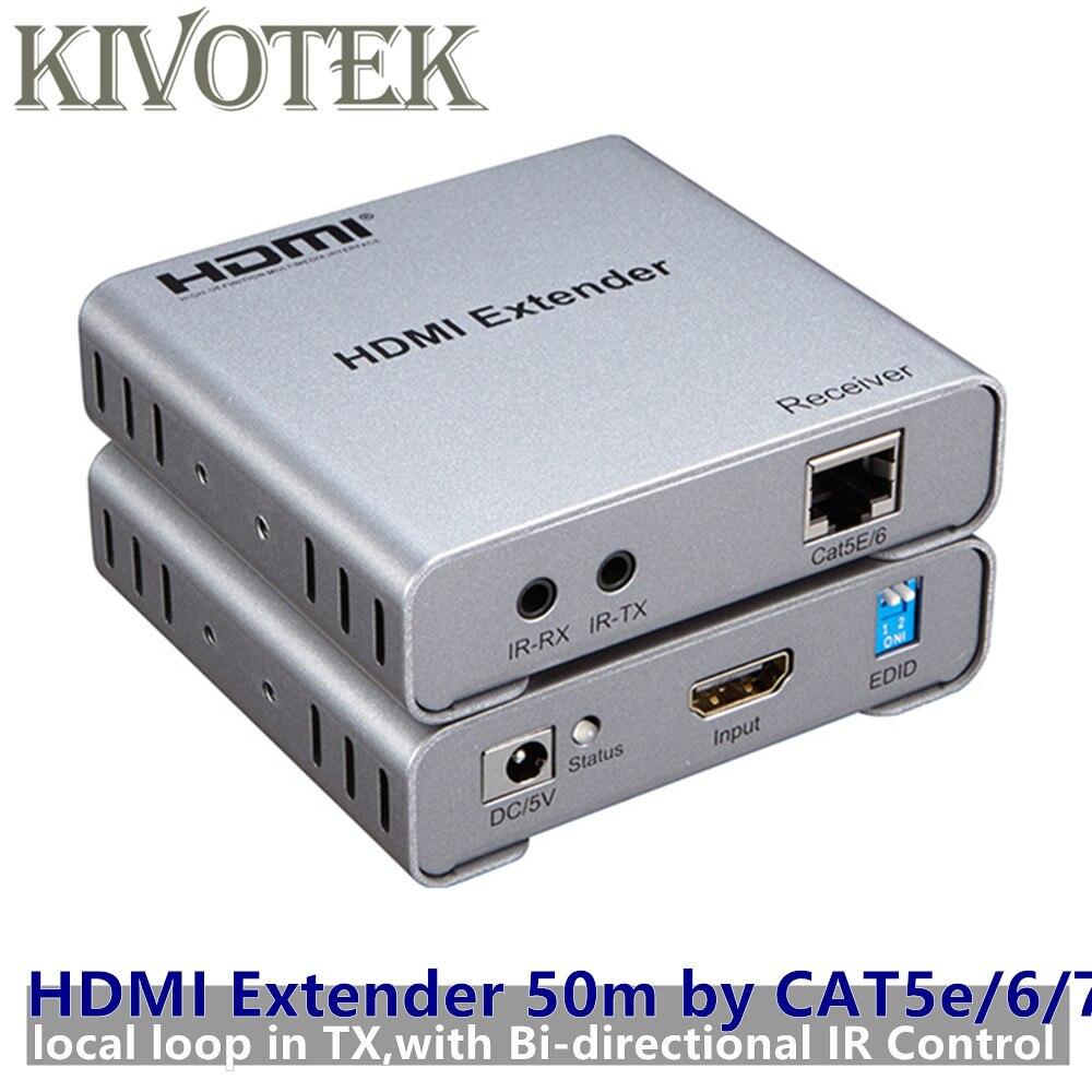 1080p HDMI Extender émetteur-récepteur adaptateur Split TX/RX 50m par Cat5e/6 RJ45 connecteur câble Ethernet pour CCTV DVD PSP livraison gratuite
