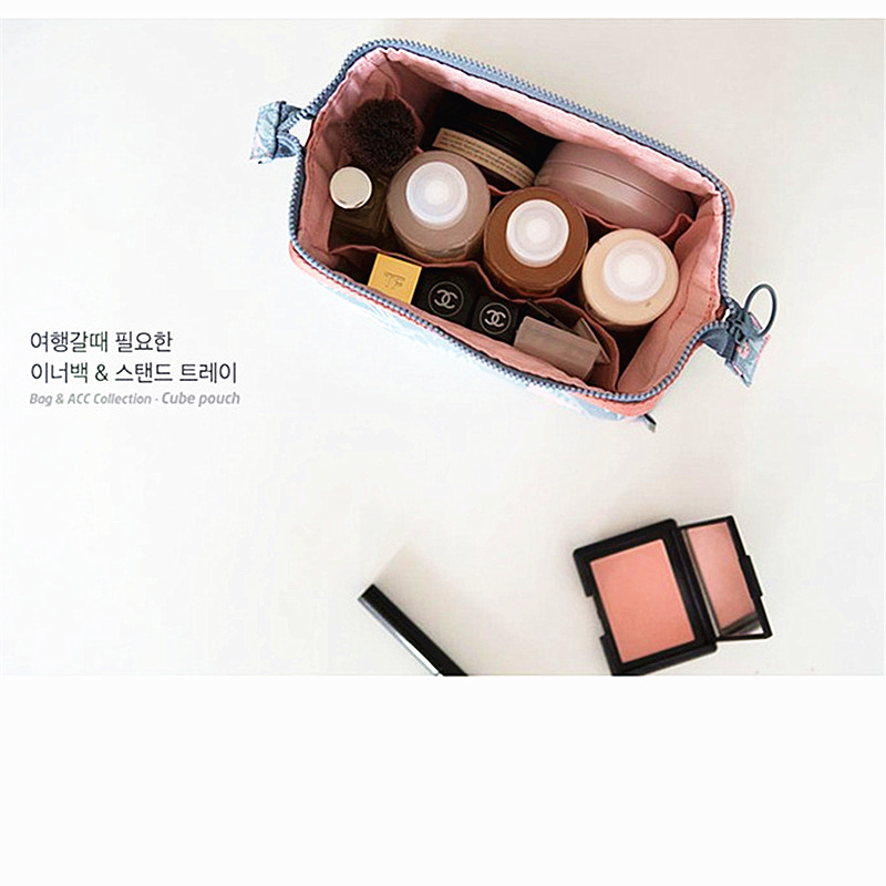 2019 Printing Makeup Bags Bath Cosmetic Bag Women Make Up Case Travel Zipper Makeup Beauty Wash Organizer Toiletry Storage Kit in Storage Boxes Bins from Home Garden