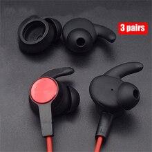 חדש אוזניות טיפים סיליקון כיסוי Eartips עבור Huawei Honor xSport AM61 Bluetooth אוזניות אוזניות כיסוי אוזן וו עמיד